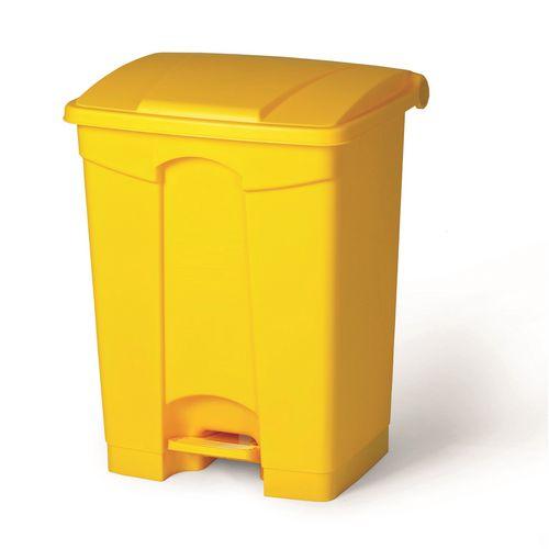 Plastic step on bin