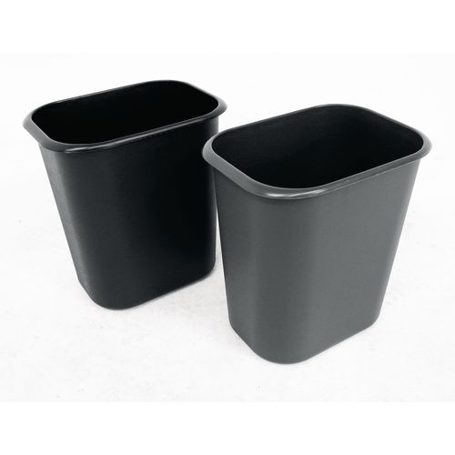 Plastic rubbish bin