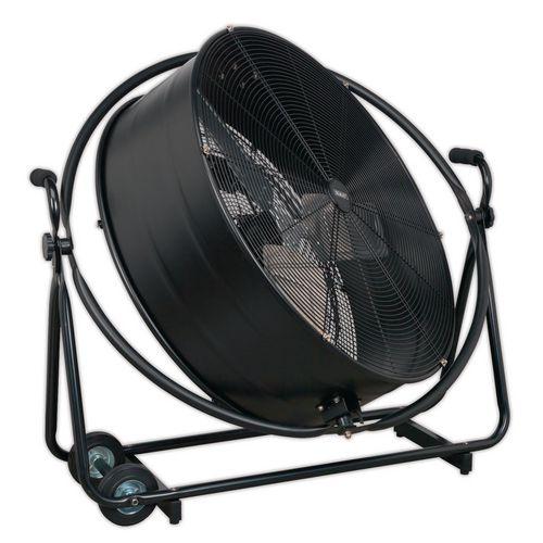 Industrial high velocity orbital drum fans