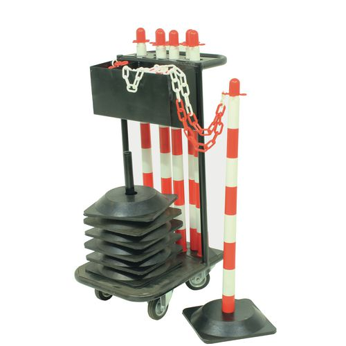 Plastic post and chain trolley kits