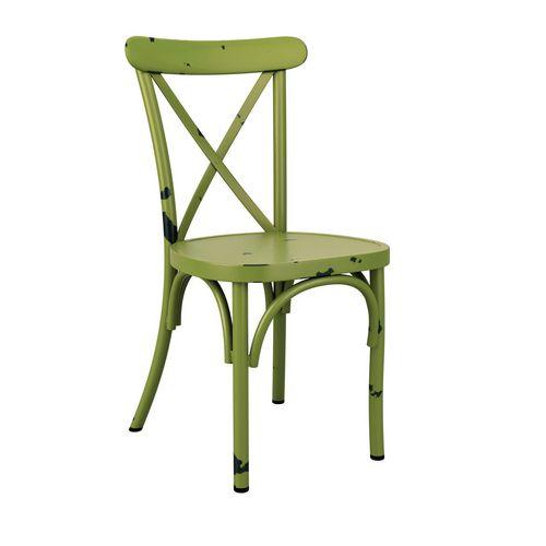 Aluminium vintage cafe side chair