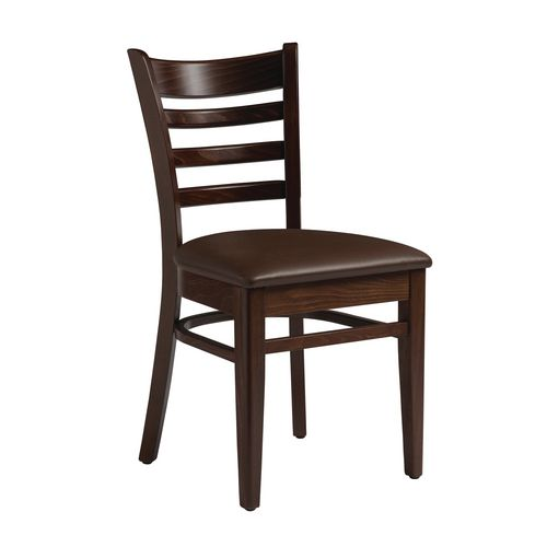 Wood frame upholstered side chair