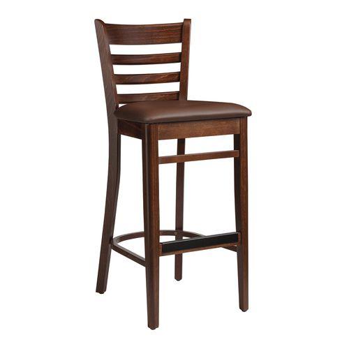 Wood frame bar stool
