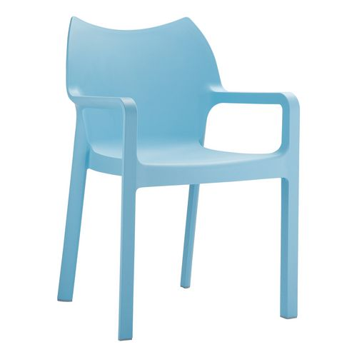 Stacking plastic arm chair