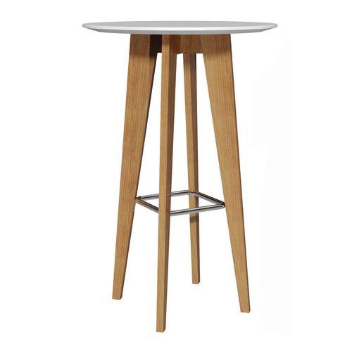 Oak poseur table