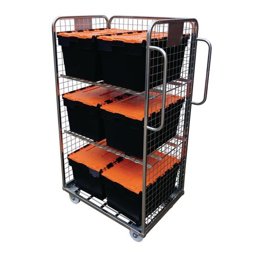 Merchandise picking trolley