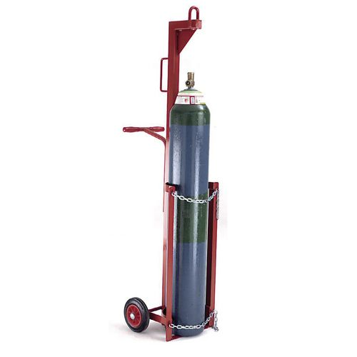 Gas cylinder lifting trolleys