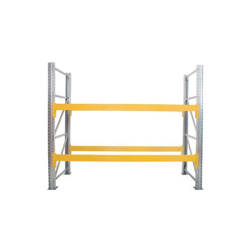 Galvanised pallet racking beams