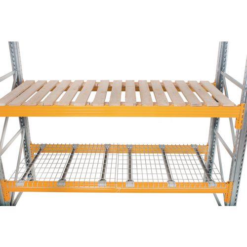 Shelf decks for galvanised pallet racking