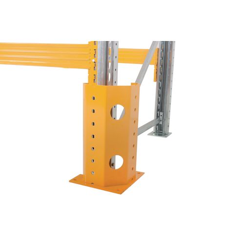 Galvanised pallet racking upright protectors