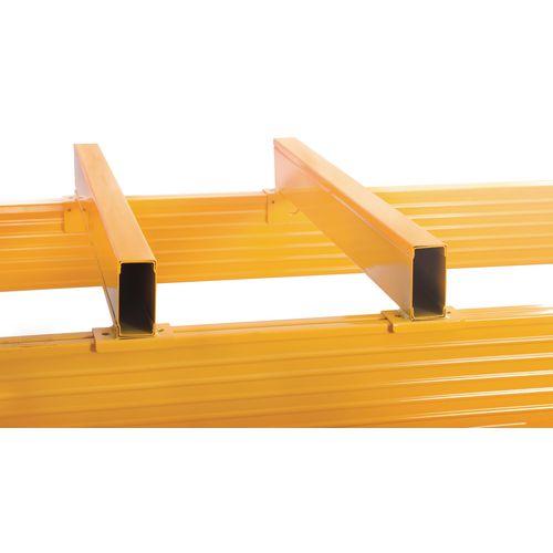 Galvanised pallet racking fork spacers