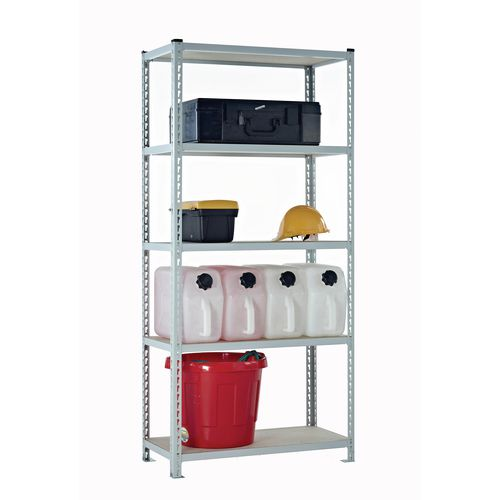 Boltless steel shelving with chipboard shelves - Up to 360kg