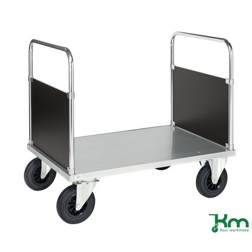 Konga heavy duty galvanised platform truck, double ended