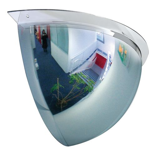 Premium hemispherical quarter dome mirror