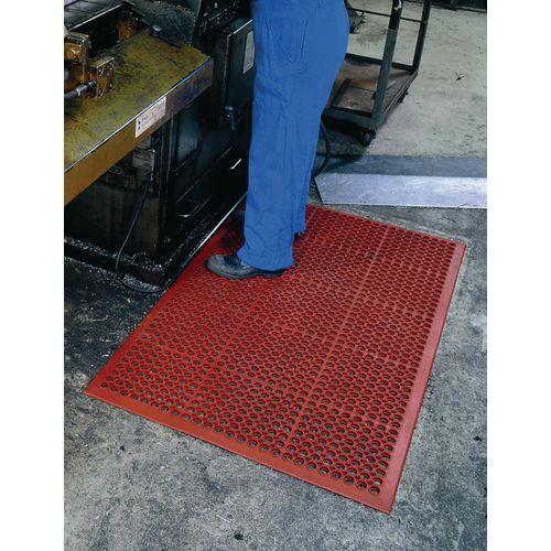 Nitrile rubber anti-fatigue duckboard mats