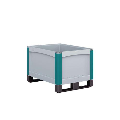 Heavy duty plastic pallet box