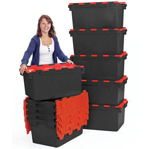 80 litre attached lid containers