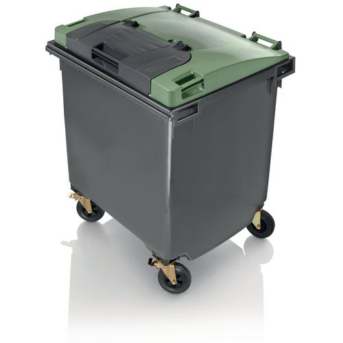 1100L flat lid (lid in lid) wheelie bin