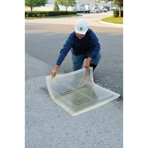 Transparent drain cover