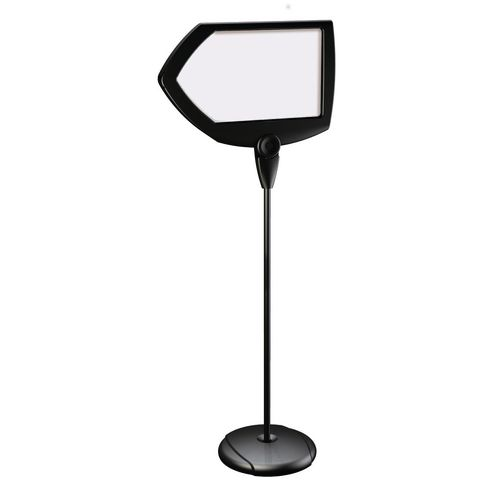 Shaped whiteboard floor stands