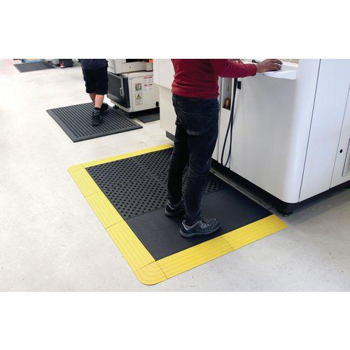 Premium comfort rubber interlocking floor tiles