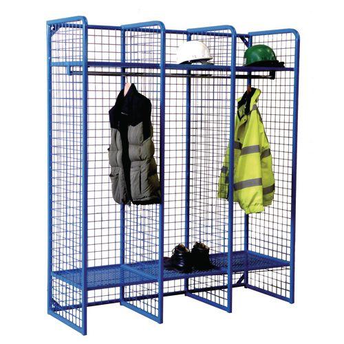 Wire mesh storage compartments