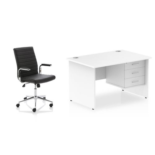 Office desk and chair package