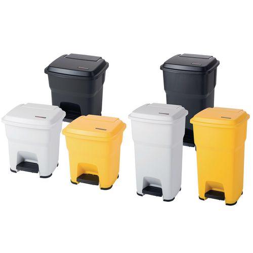 Hands free pedal bin