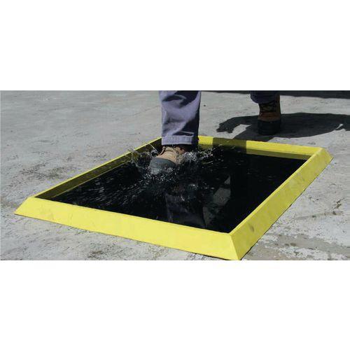 Anti-viral disinfecting foot bath mats