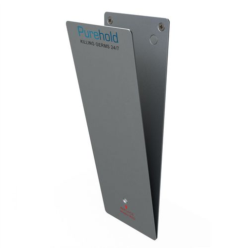 Hygienic antibacterial door push plate - starter kit