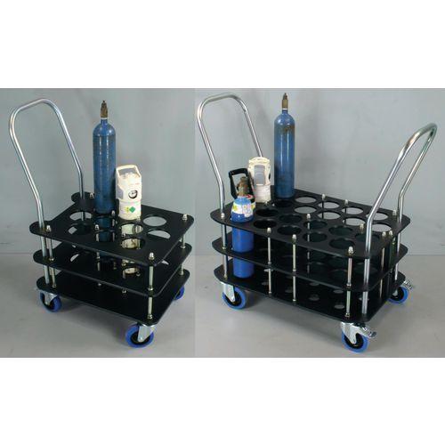 Oxygen cylinder trolleys for 100mm dia. bottles
