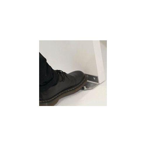 Foot operated door pull