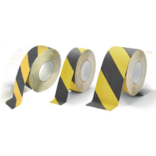 Fine grit slip resistant safety tapes