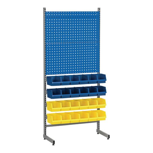Bin rack with perforated panels