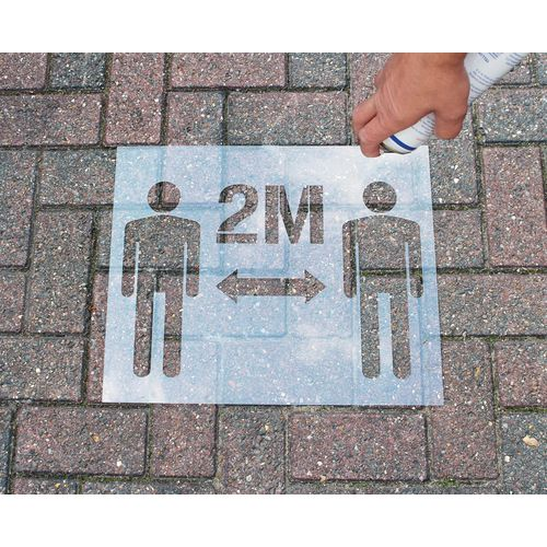 Social distance stencil kit `2 M`