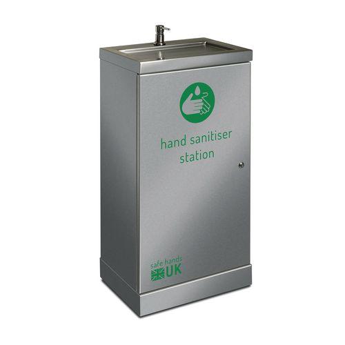 Stainless steel hand sanitising station (Senior)