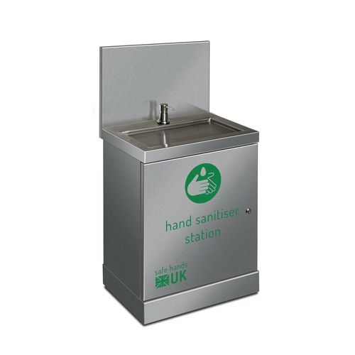 Stainless steel hand sanitising station (Junior)