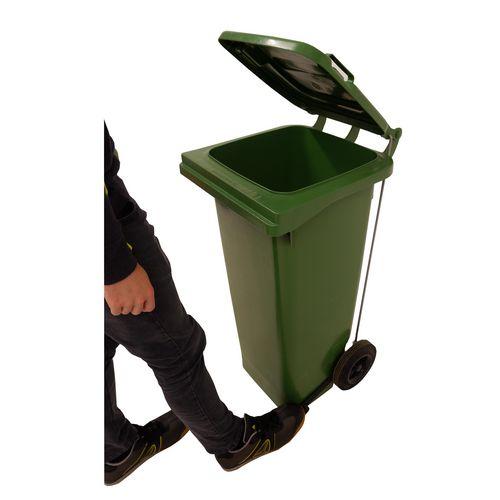 Pedal operated wheelie bins