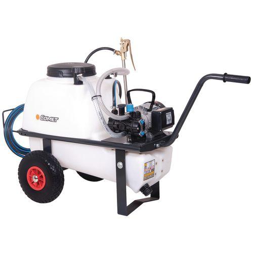 High capacity wheelbarrow pressure sprayers