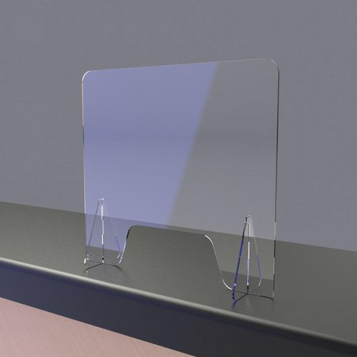 Free standing perspex protection screen with feet