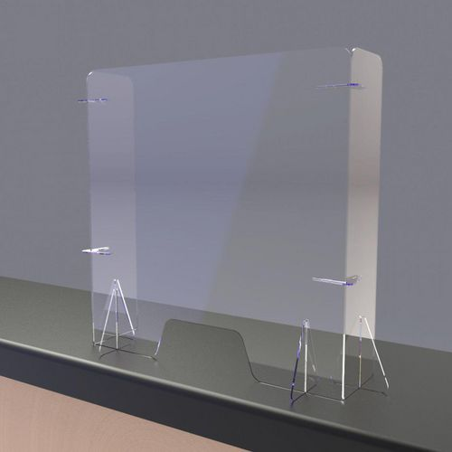 Free standing protection screen with return sides