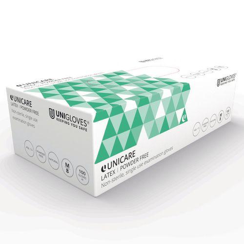 Latex powder free disposable gloves