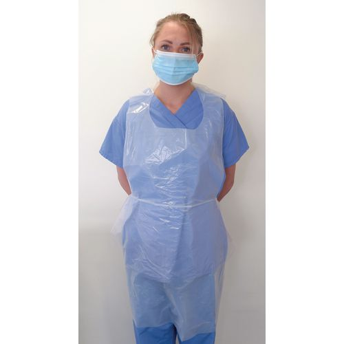 Disposable aprons, boxes of 25,000 and 50,000
