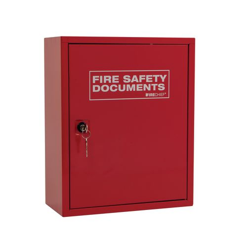 Fire safety document cabinet