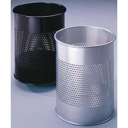 Small perforated rubbish bins