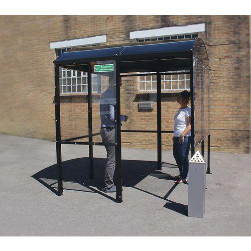 Domed smoking/vaping shelter