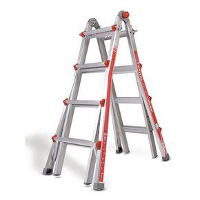 Aluminium multi-purpose telescopic ladders - 4 rung per section