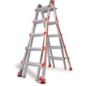 Aluminium multi-purpose telescopic ladders - 5 rung per section