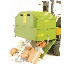 Bottom emptying skips - Closed top