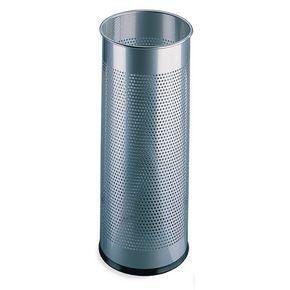 Tall perforated rubbish bin